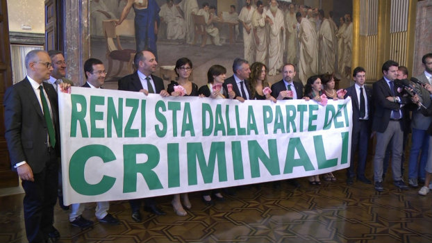 Lega Nord protesta per la nuova Legge sulle Carceri (Facebook)