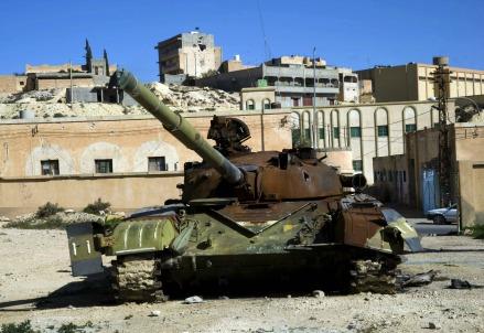 Un carro armato di Bashar Assad