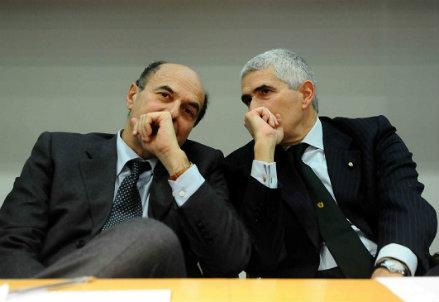 Pier Luigi Bersani e Pier Ferdinando Casini