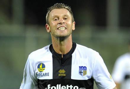 Antonio Cassano, 32 anni, sarà impegnato contro la Lazio (INFOPHOTO)