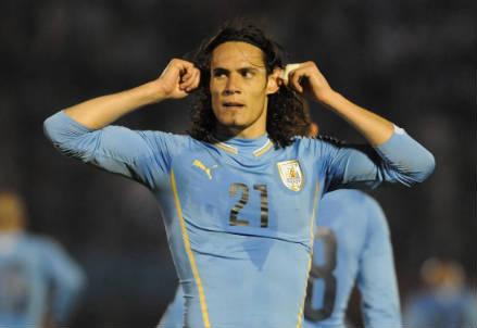 Edinson Cavani, 27 anni, 62 presenze e 21 gol con l'Uruguay (INFOPHOTO)