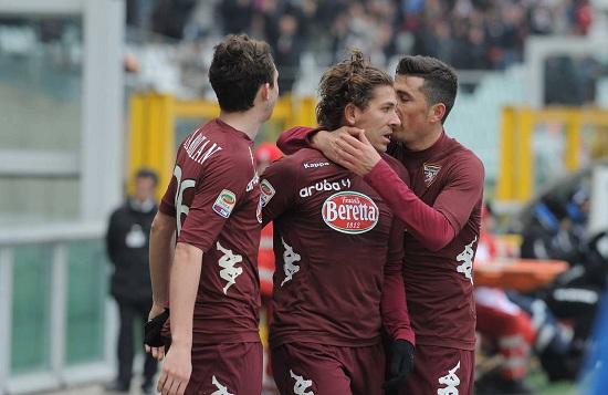 Un'esultanza del Torino (Infophoto)
