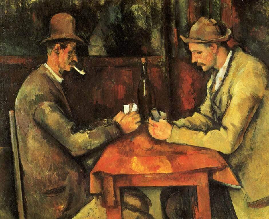 Paul Cézanne, I Giocatori di Carte (1890), particolare (Immagine d'archivio)
