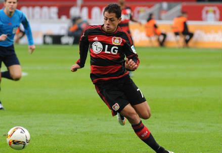 Javier 'Chicharito' Hernandes, 27 anni, attaccante messicano del Bayer Leverkusen (INFOPHOTO)