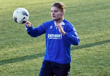 Ciro Immobile oggi gioca con l'Under 21 (Infophoto)