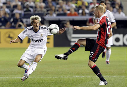 Fabio Coentrao (sinistra), 25 anni, terzino portoghese del Real Madrid (INFOPHOTO)