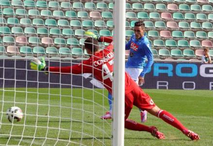 Il gol decisivo di Josè Callejon (dall'account Twitter ufficiale @sscnapoli)