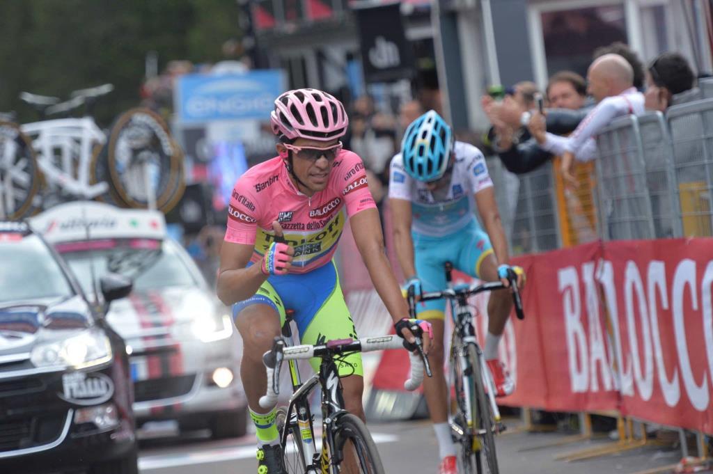 Alberto Contador e Fabio Aru a Madonna di Campiglio (da Facebook Giro d'Italia)
