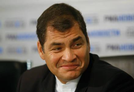 Il presidente dell'Ecuador, Rafael Correa (InfoPhoto)