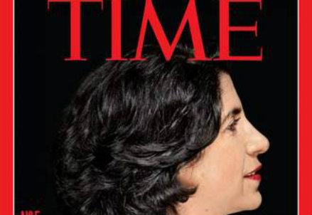 Fabiola Gianotti sulla cover di Time