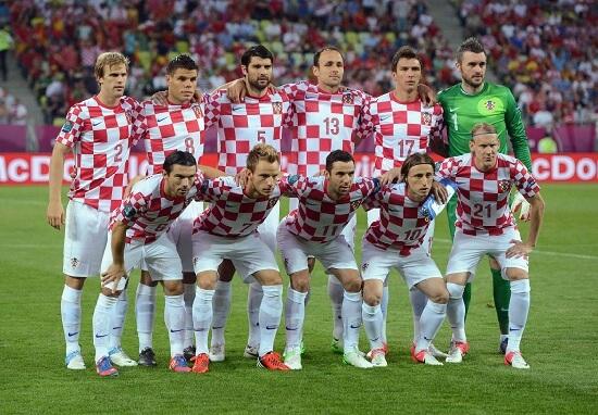 Nazionale croata (Infophoto)