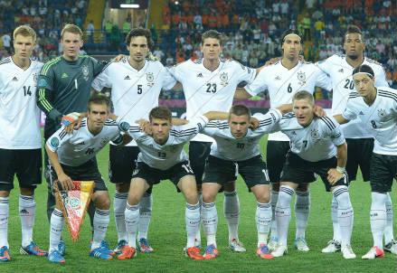 La Nazionale tedesca (Infophoto)