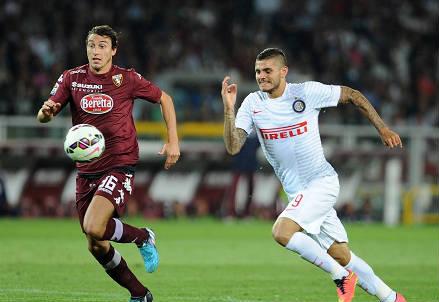 Mauro Icardi in un precedente col Torino (Infophoto)