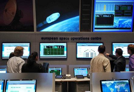 Il centro di controllo del Meteosat di Darmstadt, foto Infophoto