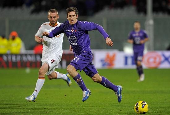 Stevan Jovetic, attaccante della Fiorentina (Infophoto)