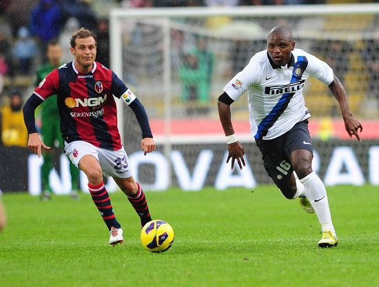Gaby Mudingayi, centrocampista Inter (Foto Infophoto)