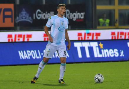 Francesco Di Tacchio, 24 anni, centrocampista della Virtus Entella (dall'account Twitter ufficiale V_Entella)