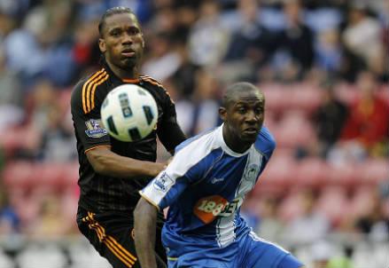 L'ivoriano Steve Gohouri, qui nel 2010 con la maglia del Wigan, è morto a 34 anni (INFOPHOTO)