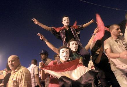 In Egitto durante i moti di Piazza Tahrir (Infophoto)