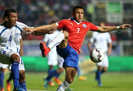 Alexis Sanchez, 26 anni, stella della nazionale cilena (INFOPHOTO)