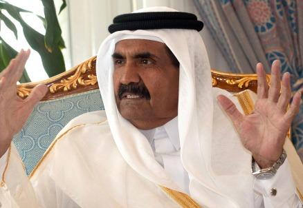 L'emiro del Qatar, Sheik Hamad bin Khalifa Al-Thani