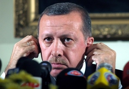 Il presidente turco Recep Tayyip Erdogan (Infophoto)