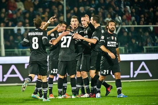 I giocatori della Juventus (Infophoto)