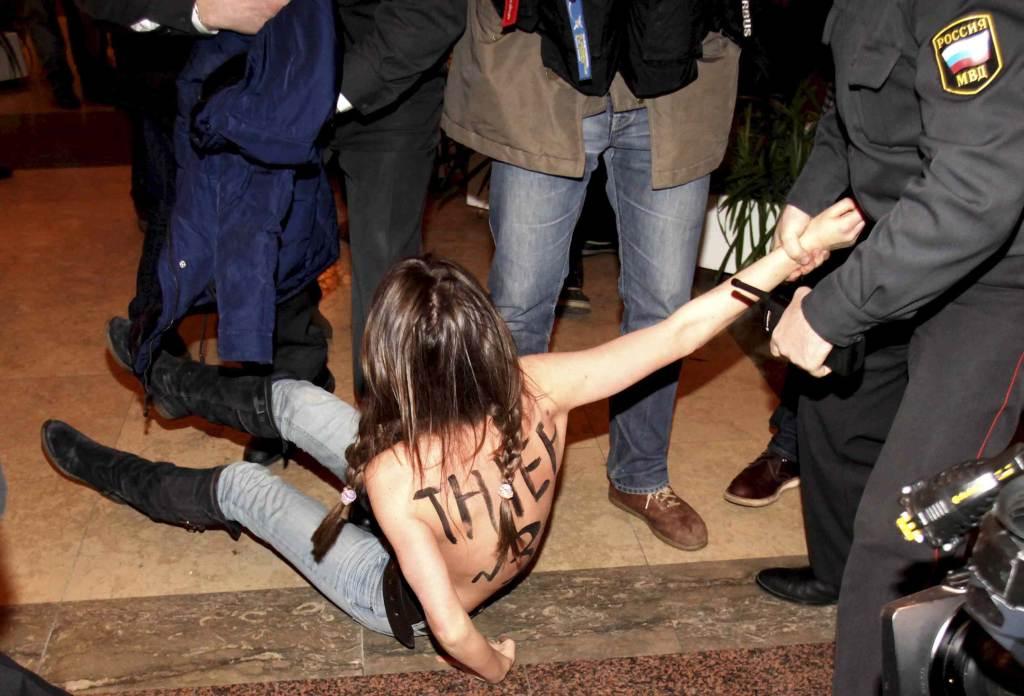 Femen in azione