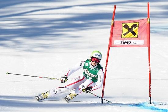Anna Fenninger in azione (Infophoto)