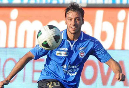 Flavio Lazzari, 27 anni, trequartista del Novara (INFOPHOTO)