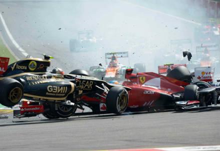 L'incidente di oggi (Foto: InfoPhoto)