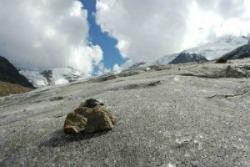 le asperità superficiali del ghiaccio amplificate dal detrito fine