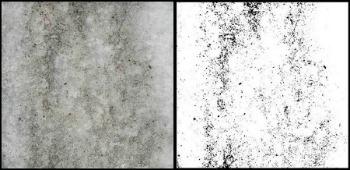 passaggio da immagine fotografica a quantificazione detrito