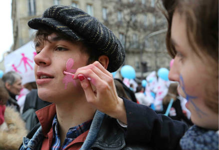 La manifestazione del 13 gennaio (Infophoto)