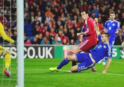 L'unico 0-0 di giornata tra Galles e Bosnia-Erzegovina (dall'account Twitter ufficiale @FIFAcom)