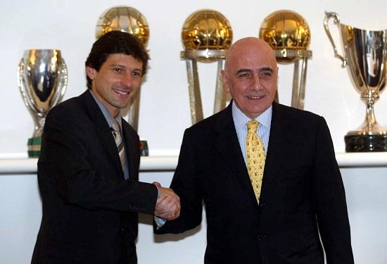 Adriano Galliani, ad del Milan, e Leonardo, dg del PSG (Foto Infophoto)