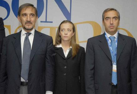 Ignazio La Russa, Giorgia Meloni, Maurizio Gasparri - Infophoto