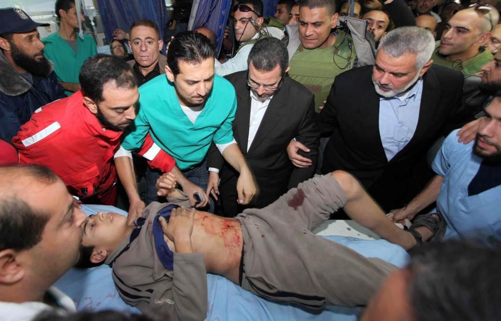 Un bambino ferito a Gaza