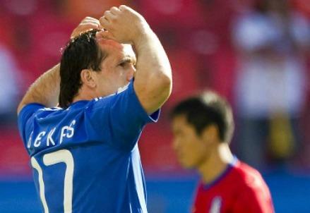 Theofanis Gekas, attaccante della Grecia (Infophoto)