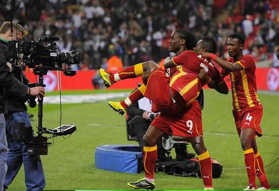 Un'immagine del Ghana ai Mondiali 2010 (Infophoto)