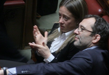 Roberto Giachetti e Giorgia Meloni (Infophoto)