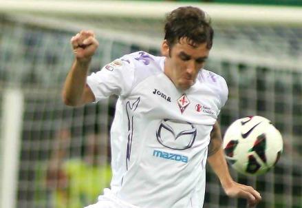 Gonzalo Rodriguez, autore del provvisorio 1-1 (Infophoto)