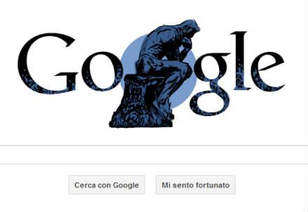 Auguste Rodin omaggiato dal logo odierno di Google