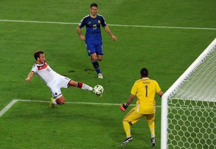 Sergio Romero, 27 anni, nella finale dei mondiali (INFOPHOTO)