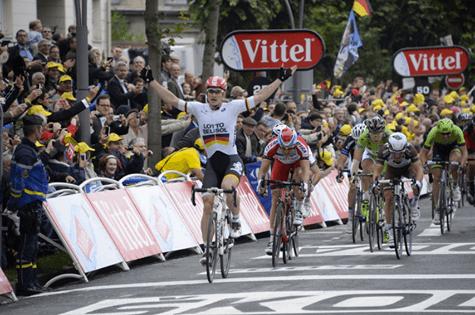 Andre Greipel vince a Reims (da Facebook)