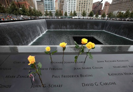 Il Memorial di Ground Zero (Infophoto)