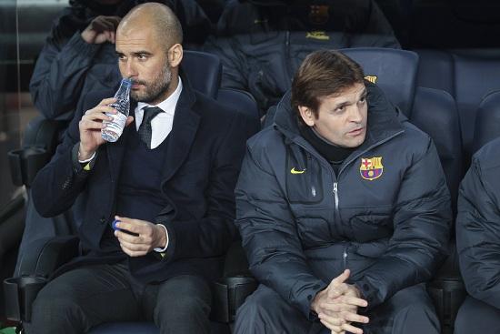 Tito Vilanova (destra), 44 anni, allenatore del Barcellona (INFOPHOTO)