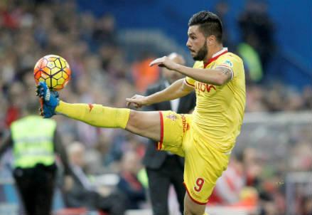 Miguel Angel Guerrero, 25 anni, attaccante spagnolo dello Sporting Gijon (INFOPHOTO)