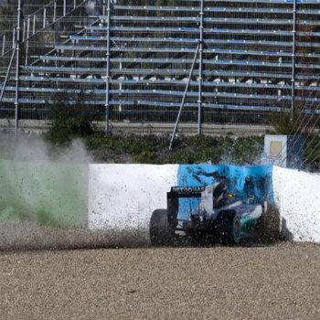 L'incidente di Lewis Hamilton a Jerez