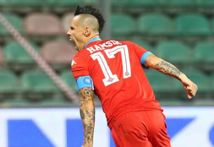 Marek Hamsik, 28 anni, centrocampista slovacco del Napoli (INFOPHOTO)